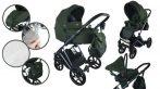 Dětský multifunkční kočárek Mama Kiddies Earth Collection 3v1 v barvě green forest + dárky