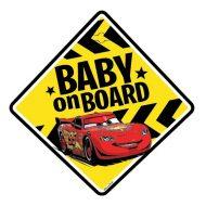 Tabulka do auta s přísavkou Dítě v autě - BABY ON BOARD - Auta