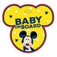 Tabulka do auta s přísavkou Dítě v autě - BABY ON BOARD - Mickey