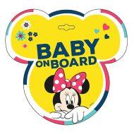 Tabulka do auta s přísavkou Dítě v autě - BABY ON BOARD - Minnie
