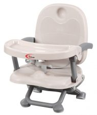 MamaKiddies jedálenská stolička EasySnack, farba sivá