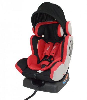 Detská bezpečnostná autosedačka MamaKiddies Baby Extra Plus (0-36kg), farba červená+ darček clona proti slnku