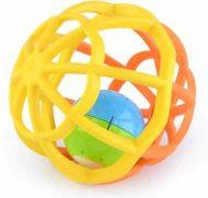 Rozvojová hračka guľa žlto oranžová