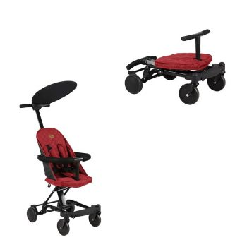 Dětský sportovní kočárek transformovatelný Mama Kiddies Neo v červené barvě