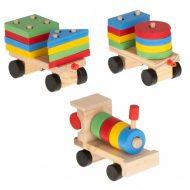 Dřevěná edukační hračka - vláček 30cm