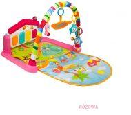 Edukační hrací podložka s klavírem - růžová