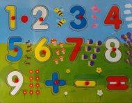 Dřevěné PUZZLE s čísly