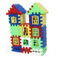 Edukační stavebnice, 24 dílů - Domečky