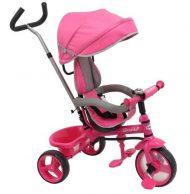 Baby Mix trojkolka s vodiacou tyčou Ecotrike pink