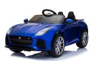 Jaguár limited edition dvoj sedadlové elektrické auto na diaľkové ovládanie v modrej farbe