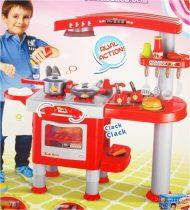 Obrovská červená kuchynka pre deti s doplnakami - svieti a vydáva zvuky