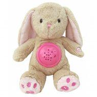 Baby Mix plyšový zajačik s projektorom - ružový