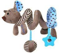 Špirálová plyšová hračka na kočík/malé vajíčko - modrá myška
