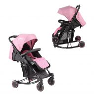 Dětský sportovní houpací kočárek Mama Kiddies Rock v růžové barvě