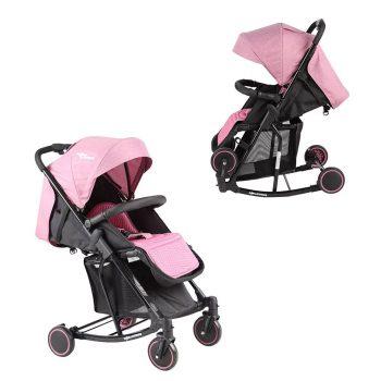 Detský športový hojdací kočík Mama Kiddies Rock v ružovej farbe