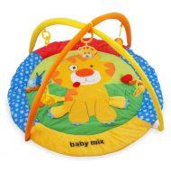 Baby Mix deka na hranie kruhového tvaru s levom