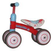 Červený štvorkolesový bicykel -odrážadlo