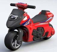 Detské odrážadlo - dvojkolesová motorka, farba červená
