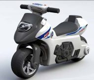 Detské odrážadlo - dvojkolesová motorka, farba čierno-biela