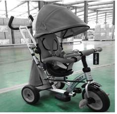 Baby Mix dětská tříkolka 360 Turbo otočným sedadlem o 360 ° - tmavě šedá