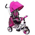 Baby Mix dětská tříkolka 360 Turbo otočným sedadlem o 360 ° - růžová