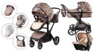Dětský kombinovaný kočárek Mama Kiddies Fox 3v1 s doplňky, barva terénní vzor + Dárek