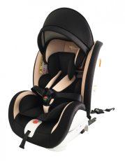 Dětská autosedačka Mama Kiddies Rotary s 360 ° otáčením (0-36kg) s ISOFIX systémem, barva černo - béžová + dárky