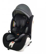 Dětská autosedačka Mama Kiddies Rotary s 360 ° otáčením (0-36kg) s ISOFIX systémem, barva černo-tmavě šedá + dárky