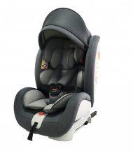 Dětská autosedačka Mama Kiddies Rotary s 360 ° otáčením (0-36kg) s ISOFIX systémem, v šedé barvě + dárky