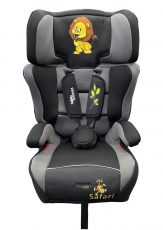 Mama Kiddies Turbo dětská bezpečnostní autosedačka (9-36 kg), šedo-černá (safari edition) + dárek