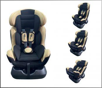 Detská bezpečnostná autosedačka MamaKiddies Safety Star (0-25 kg), farba béžová