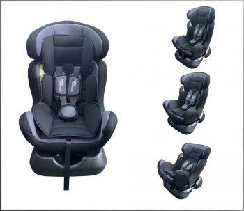 Dětská bezpečnostní autosedačka Mama Kiddies Safety Star (0-25 kg), barva šedo-černá