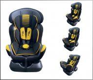 Dětská bezpečnostní autosedačka Mama Kiddies Safety Star (0-25 kg), barva šedo-žlutá