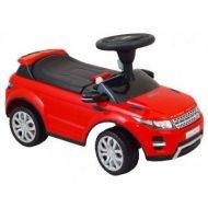 Range Rover nohami poháňané auto s hudbou červenéVlastnosti    Plastové puzdro odolné proti nárazom; Ergonomické sedadlo Otvorením krytu sedadla je pristor na uloýenie napr. hračkiek Volant ovláda pre